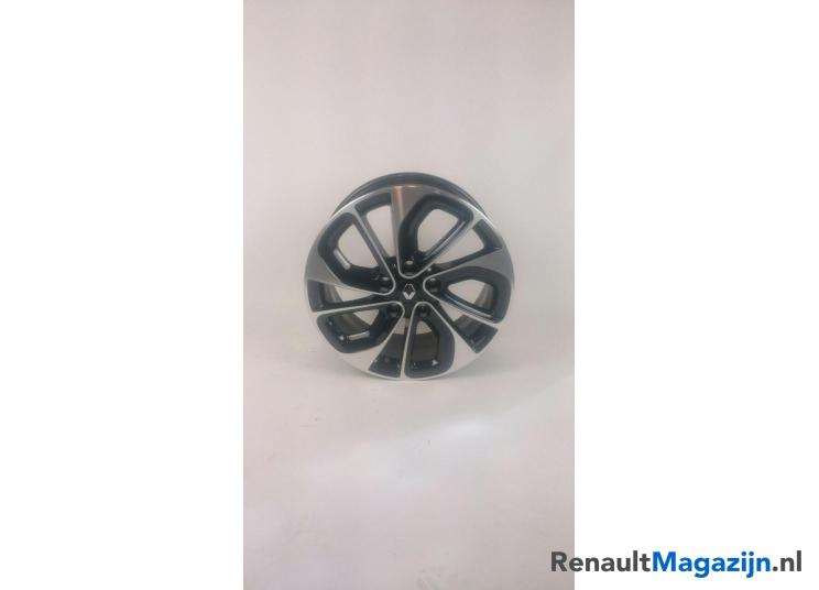 403006221r Renault Velg Grijs Zwart Akihiro 17 Inch